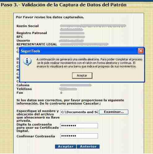 renovar el certificado del IDSE