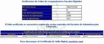 resultado verificacion facturacion DIGITAL