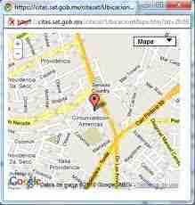 mapa sat