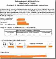 constancia autorizacion permanente imss