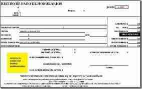 RECIBO DE HONORARIOS CBB