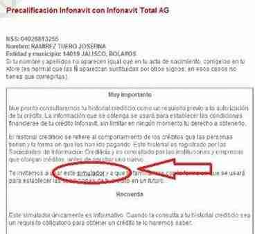 simulador historial credito infonavit thumb Simulador de Consulta de Historial Crediticio Infonavit de los trabajadores