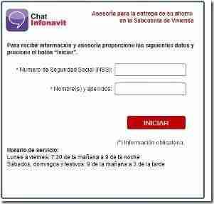 chat devolucion infonavit 1997