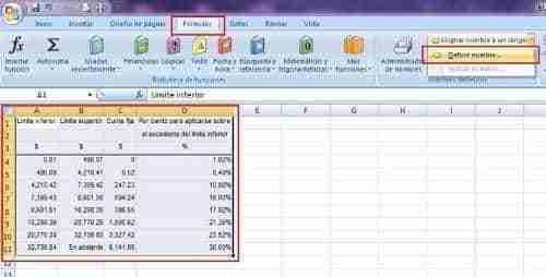 calcular ISR excel 2