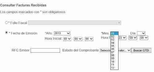 descargar facturas pagina del SAT