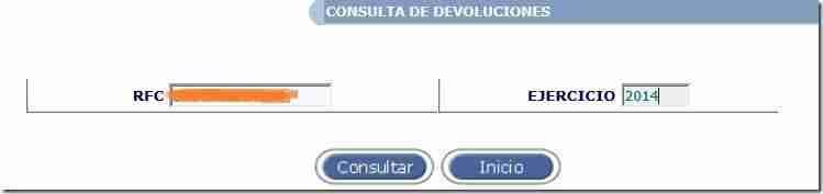 consultar devolucion SAT