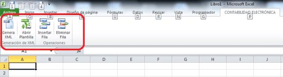 menu excel contabilidad electronica SAT