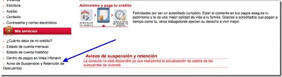 Aviso de Suspension y Retencion de Descuentos