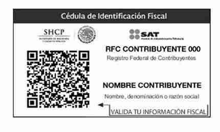CIF cedula de identificacion fiscal SAT