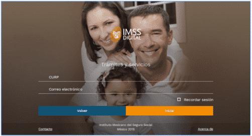 IMSS digital CURP correo electronico