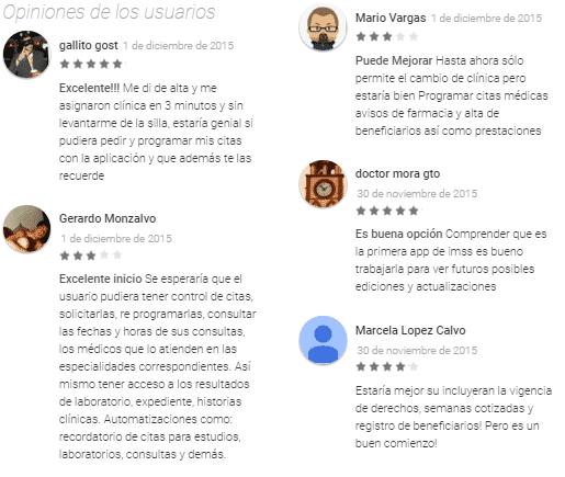 opiniones usuarios IMSS Digital