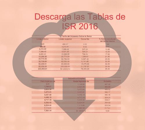 Tablas ISR 2016 – Calculo Mensual, Anual, Quincenal, Semanal, Diario ...