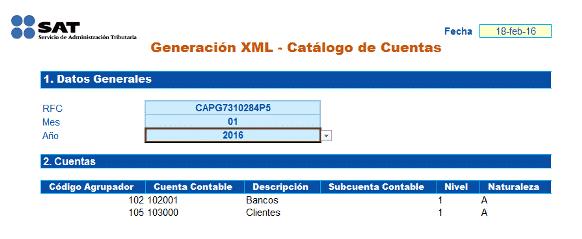 CATALOGO DE CUENTAS CONVERTIDOR SAT