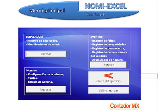 Nomi Excel gestion de nomina