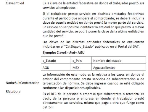 cfdi nomina outsourcing 3.3
