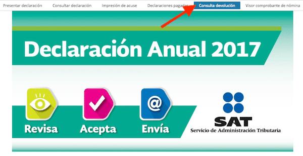 consulta devolucion automatica declaracion anual SAT