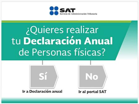 presentar declaracion persona fisica pagina del SAT