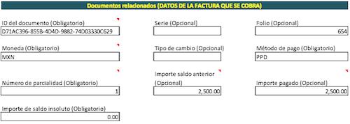 documento relacionado CFDI de pagos SAT