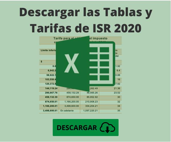 tablas y tarifas ISR 2020