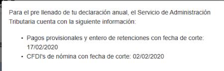 Informacion automatica SAT Declaracion Anual
