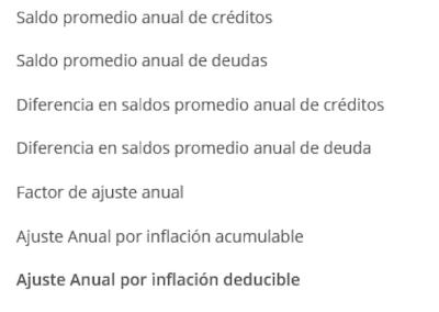 ajuste anual por inflacion persona moral