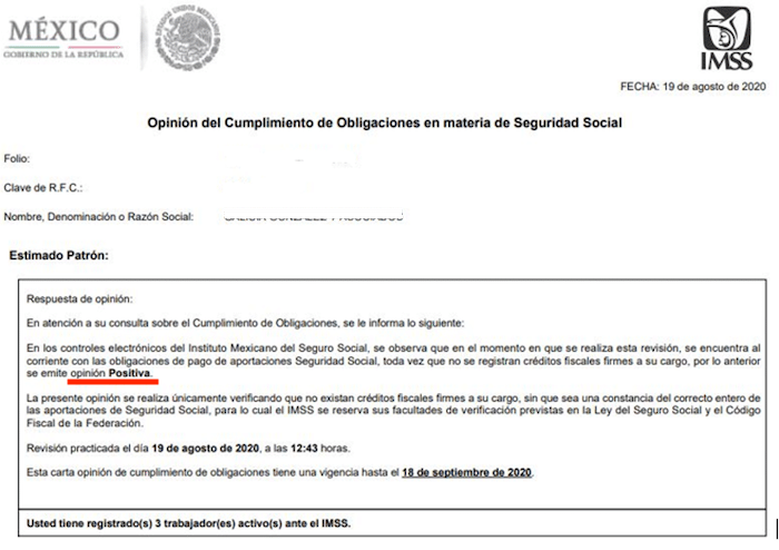 descargar opinion de obligaciones IMSS positiva en PDF