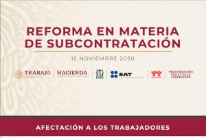 Lee más sobre el artículo Iniciativa de reforma en materia de subcontratación (Outsourcing)