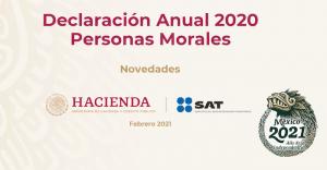 Lee más sobre el artículo Cambios del SAT en la declaración anual 2020 de Personas Morales